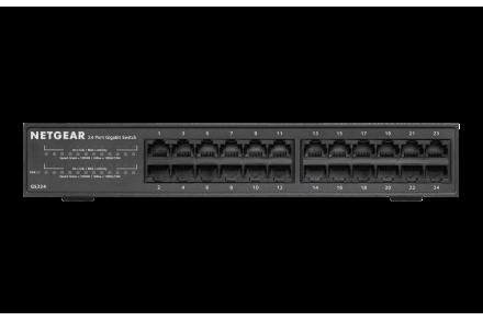 GS324-100NAS NETGEAR 24-Port Gigabit Ethernet Desktop//Rackmount Switch